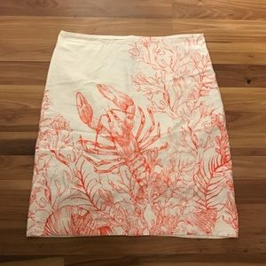 Anthropologie HD in Paris sz 12 sea pencil skirt